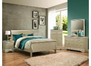 Diamond Champagne King Bed Frame