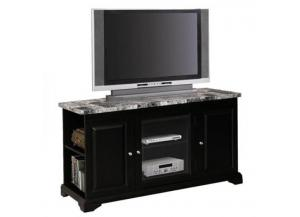 24518 Black Faux Marble TV Stand
