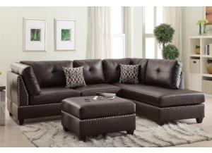 F6973 3 Piece Sectional with Reversible Chaise