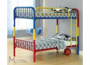 4025 Multi Color Twin/Twin Convertible Bunkbed Frame