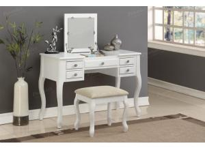 F4148 White Vanity With Stool