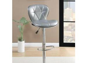 F1623 Silver Adjustable Bar Stool