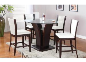 22110-140 Enclave Cream Pub Table with 4 Stools