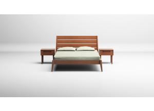 Sienna Queen Platform Bed, Caramelized