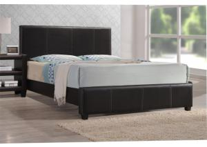 Brown Leather Full Bed Frame