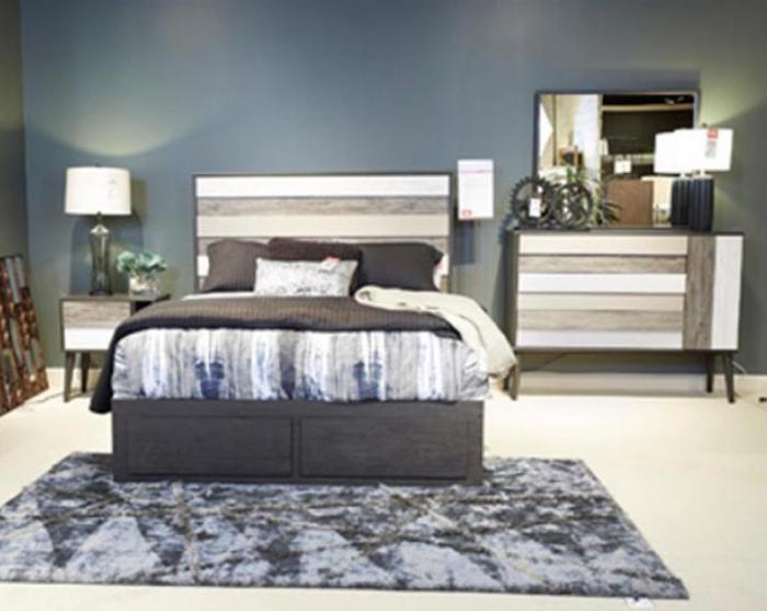 Micco Multi Queen Panel Bed, Dresser, Mirror, and Nightstand,Ashley Clearance