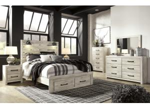 Ashley Cambeck Queen Bed w/ Storage Footboard, Dresser, Mirror, Chest, and Nightstand