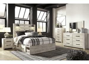 Ashley Cambeck Queen Bed w/ Storage on both side, Dresser, Mirror, Chest, and Nightstand