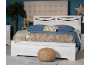 Briartown Whitewash King Panel Bed