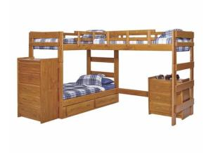 Heartland L-Shaped Bunkbed w/o Trundle & Chests