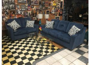 Ashley Blue Sofa and Loveseat