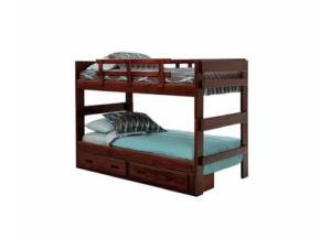 Woodcrest 2600 Rustic Split Bunkbed w/o Trundle