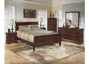 Ashley Alisdair Queen Bed, Dresser, Mirror, Chest, and Nightstand