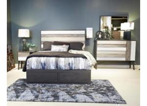 Micco Multi Queen Panel Bed, Dresser, Mirror, and Nightstand