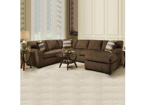 American Chocolate Pewter 3pc Sectional