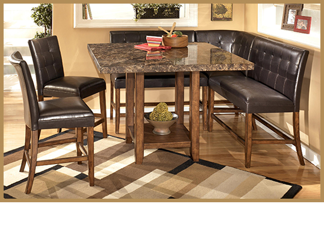 D328 Lacey Counter Height Dining Set with Booth