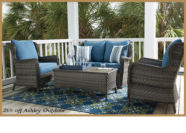 Ashley P360 Outdoor Sofa and Chairs