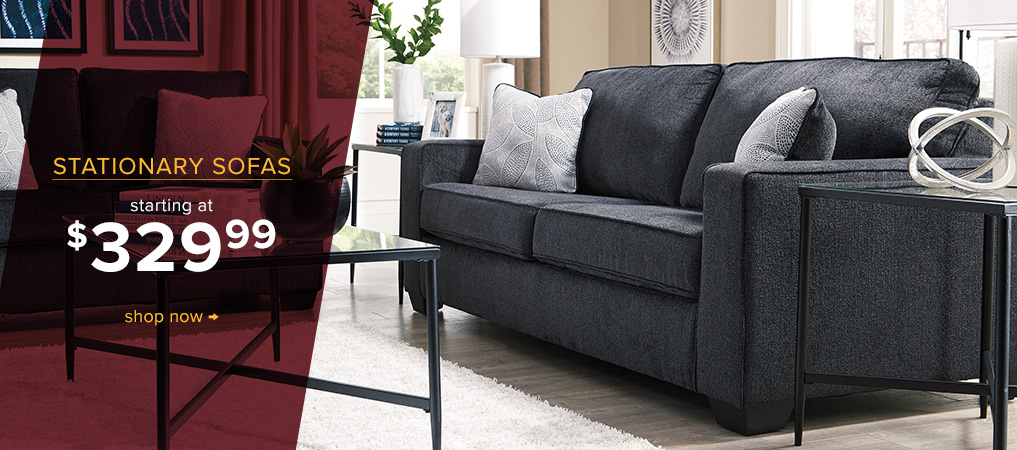 Stationary Sofas starting at $329.99