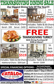Thanksgiving Dining Sale