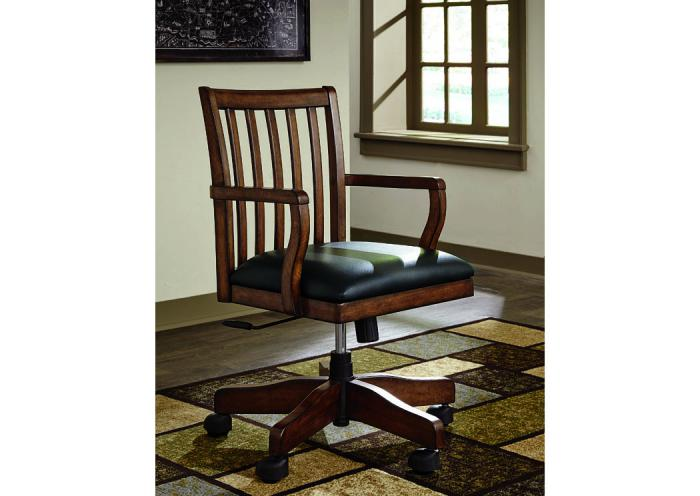Oxford Solid Wood Swivel Desk Chair,Chertok's