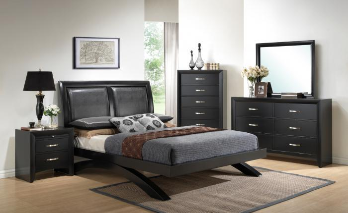 Crown Mark Maya Queen Platform Bed,Chertok's