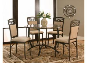 Canal 5 pc dining table and 4 chairs