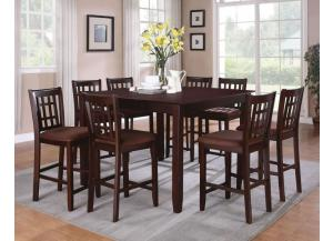 Conversation 5 pc counter height dining table and 4 stools