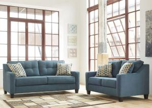 Oceana Blue Sofa and Loveseat