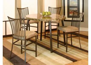 5 Piece Commercial Quality Pub Table and 4 Stools $599