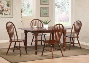 Brentwood 5 piece solid wood table and 4 chairs