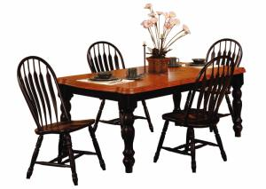 Baldwin 5 piece solid wood table and 4 chairs