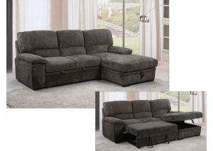 Knoxville' Chaise Storage Sleeper Sectional