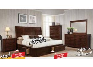 Ohio Queen 6 Drawer Storage Bed