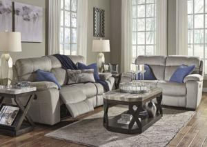 Upland Power Reclining Sofa w/Power Headrests