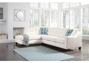 Arctic White Chaise Sectional