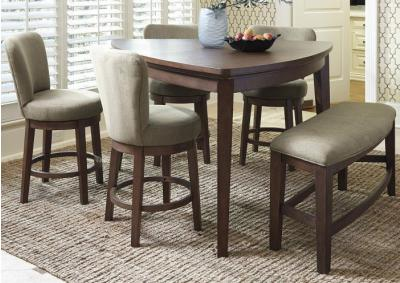 Triangular Table w/4 Swivel Stools
