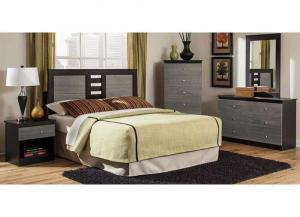 "Image for ""Hillcrest"" Bedroom, includes dresser, mirror, chest, headboard, and night stand"