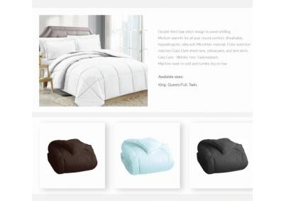 Solid White Goose Down Alternative Comforter