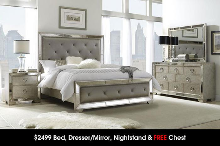 $2499 Bed, Dresser/Mirror, Night Stand & FREE CHEST,Cohen's Closeout Specials