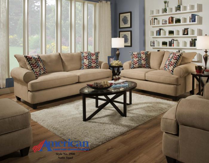 Natte Sand Sofa & Loveseat ,American Furniture