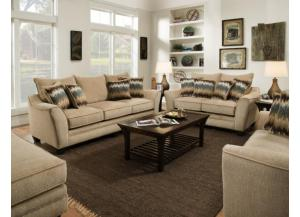 Perth Oatmeal Sofa & Loveseat