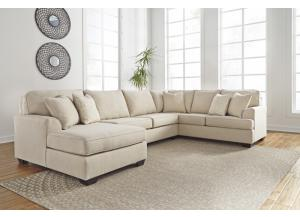 Brioni Nuvella Sand Left Facing Corner Chaise Sofa Sectional