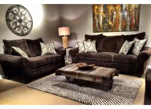 Brown Huge Sofa & Loveseat