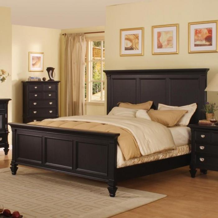 Summer Breeze Black Collection - Queen Panel Bed,Holland House