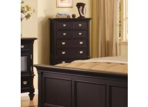 Summer Breeze Black 5 Drawer Chest