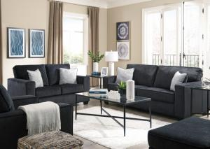 Altari Slate Sofa & Loveseat, Chair, Ottoman & Table