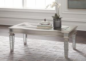 Tessani Silver Rectangular Cocktail & End Table