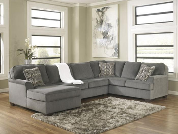 Loric Smoke Left Facing Chaise Sectional,In-Store Product