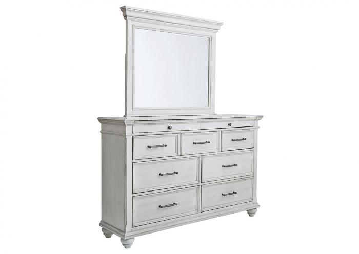 Kanwyn Whitewash Dresser w/Mirror,In-Store Product