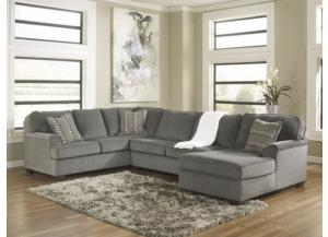Loric Smoke Right Facing Chaise Sectional